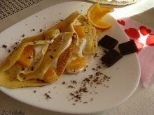 Naleśniki z pomarańczą i gorzką czekoladą