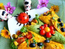 Naleśniki z sałatką i ryżem dzikim