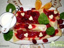 Naleśniki z serem i malinami :