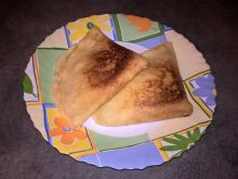 Naleśniki z serem, jabłkami i cynamonem