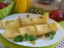 Naleśniki z serem mascarpone i konfiturą kiwi