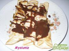 Naleśniki z serkiem i czekoladą