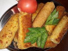 Krokiety ze szpinakiem, jajecznicą i żółtym serem