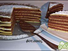 Naleśnikowy tort z masą kaszkową