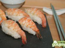 Nigiri sushi z krewetką