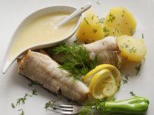 Nototenia na parze z cytrynowym sosem