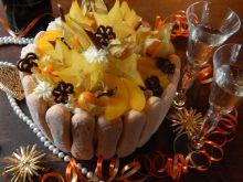 Noworoczny tort szampański