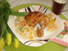 Nóżki kurczaka pieczone w miodowym piwie