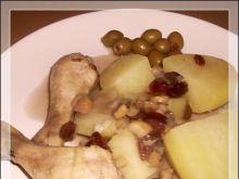 Nóżki kurczaka w żurawinie i kasztanach