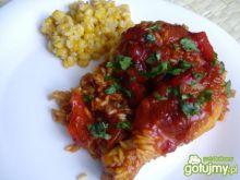 Nózki z kurczaka na ostro z ryżem