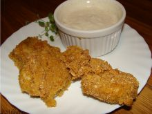 Nugetsy z kurczaka z sosem czosnkowym