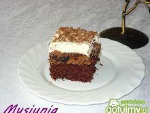 Nutellowo - śliwkowe ciasto alkoholowe