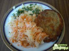Obiad- kotlet z kapustą kiszoną