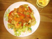 Filet z warzywami, czyli szybki obiad na upalne dni