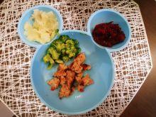 Obiadek dla maluszka - pieczone klopsiki