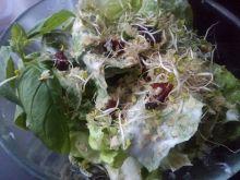 Obiadowa sałata z roszponką i orzechami