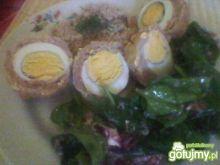 Oczka mielone z jajkiem