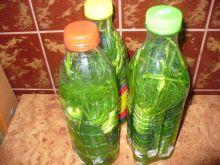 Ogórki małosolne w butelkach