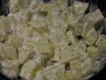 Ogórki w ostrym sosie ziołowo - czosnkowym