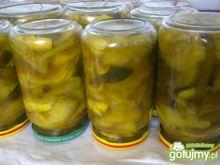 Ogórki z cukinią w sosie słodko-kwaśnym