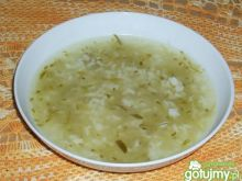 Ogórkowa z ryżem