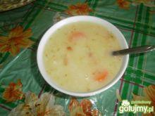 Ogórkowa z ryżem i ziemniaczkami
