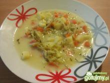 Ogórkowa zupka z domowych przetworów