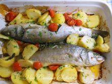 Okoń morski pieczony z ziemniakami