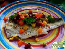 Okoń morski w warzywach na maśle