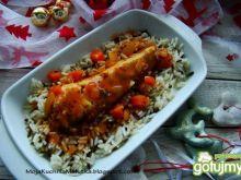 Okoń na ryżu z sosem prowansalskim