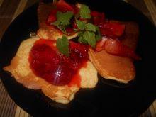 Omleciki z karmelizowanymi truskawkami