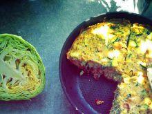 Omlet pełen zieleniny