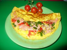 Omlet warzywno - rybny