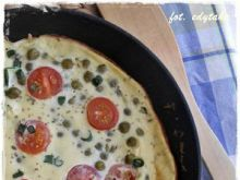 Omlet z groszkiem i cukinią