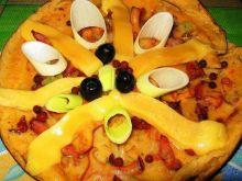 Omlet z kurkami i pesto