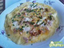 Omlet z kurkami i szynką