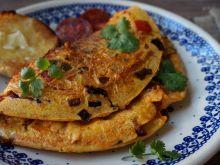 Omlet z papryką i chorizo