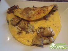 Omlet z pieczarkami i gorgonzola