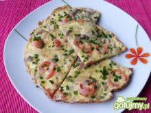Omlet z pieczarkami i pomidorami