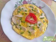 Omlet z piersią kurczaka