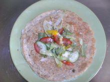 omlet z platkami owsianymi