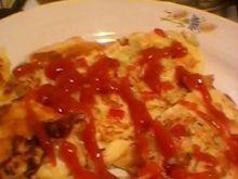 Omlet z serem i cebulą
