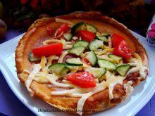 Omlet z serem i warzywami