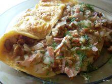 Omlet z szynką i kurkami