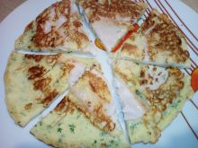 Omlet z szynką i rzeżuchą