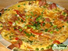 Omlet z warzywami i boczkiem