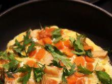 Omlet z warzywami z rosołu