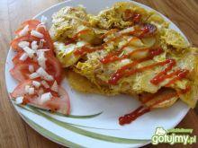 Omlet z ziemniakami po wiejsku