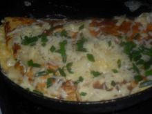 Omlet zapiekany z serem