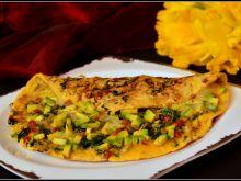 Omlet ze szpinakiem i awokado